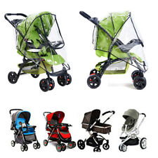 Universal Buggy Pushchair Stroller Pram Transparent Waterproof Zipper Rain Cover