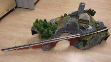 Beautiful handmade N scale 1:160 mountain village diorama