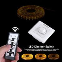 200W LED Dimmer Schalter Unterputz für dimmbare Lampen 220V mit IR Fernbedienung
