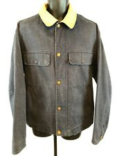 Nautica  Vintage Washed Canvas Leather Collar Work Barn Chore Large Men