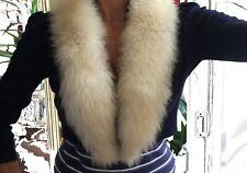 VINTAGE REAL SHEEPSKIN shearling Fur Collar Scarf DIY Wrap Shawl Neck Warmer Cap