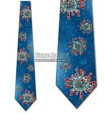 Virus Ties Mens Medical Necktie Doctor Ties Science Neck Tie