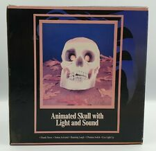 More details for horror: animated skull with light & sound made by the halloween factory in 1996