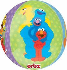 "123 Sesame Street Elmo & Cookie Monster 15 in"" Single ORBZ Balloon"
