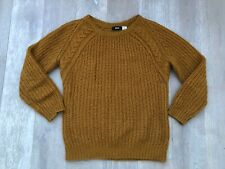 URBAN OUTFITTERS BDG Mustard Cable Knit Jumper Top-XS-UK8/10-L@@K!