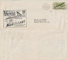 US 1946 NORTH EAST AIRLINES AM 27 FIRST FLIGHT COVER BOSTON MASS