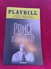 BROADWAY PLAYBILL - PRINCE OF BROADWAY, SEPTEMBER 2017, OBC