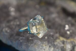 Sterling Silver Herkimer Diamond Ring (925)