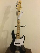 Vintage Five String Jazz Bass Guitar VJ75 MBK [FUSION VIRTUOSO!]