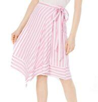 Lucy Paris Womens Teagan Skirt Pink White Small S Asymmetrical Striped $79 353
