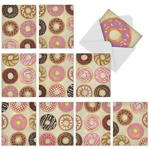 10  All Occasion Blank Cards Assortment - TIME TO SEND THE DONUTS M6021