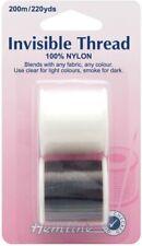 Hemline H240.2 | 100% Nylon Invisible Thread | 200m | 2 pack | For Light & Dark
