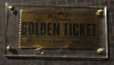 "2005 Neca WILLY WONKA Movie Promo Replica Golden Ticket 5x2.5"" NM 9.4"