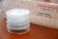 [Set of 20] Petri Dish 50 x 9mm Sterilized Disposible Clear Plate w/ Tight Lid