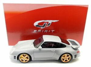 GT Spirit 1/18 Scale Resin - GT145 Porsche 993 Ruf Turbo Limited Grey Model Car