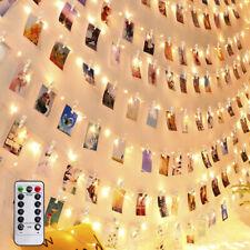 20/50/100 LED Photo Clip String Fairy Lights Christmas Garland Decor Wedding