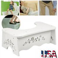 "7"" PVC Squatty Step Stool Bathroom Potty Squat For Proper Toilet Posture Relief"