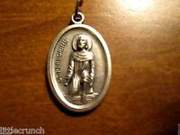 VINTAGE RELIGIOUS ROSARY MEDAL PENDANT ST. PEREGRINE PATRON SAINT OF CANCER
