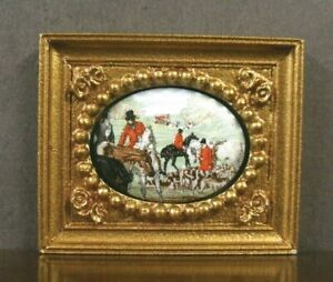 Small Fired Porcelain Picture ~Dollhouse~ England ~ Marked ~ 1/12 or 1/24 scale