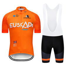TEAM EUSKADI Orange PRO cycling jersey bibs shorts suit Ropa Ciclismo mens