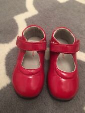 Jumping Jacks Red Patent Leather Girls Shoes Mary Jane Size 7.5M toddler