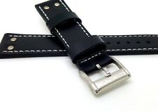NEW OLD STOCK HAMILTON 22MM GENUINE LEATHER WATCH STRAP BLACK
