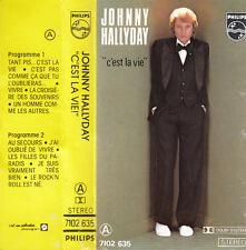 """K 7 AUDIO (TAPE)  JOHNNY HALLYDAY   """"C'EST LA VIE"""""""