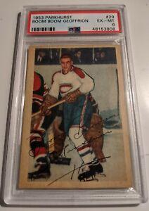 1953-54 Parkhurst #29 Boom Boom Geoffrion Canadiens HOF PSA 6