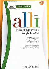 Alli Orlistat WEIGHT LOSS AID {120}~60mg Capsules Refill Pack