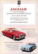 JAGUAR MK2 Mark 2 & JAGUAR S MODELS RETRO A3 POSTER PRINT FROM 60's ADVERT