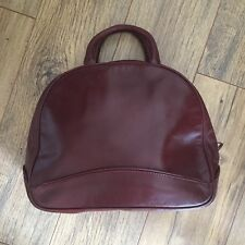 Hidesign by Radley Handbag Brown Leather Vintage Grab Bag Checked Fabric Lining
