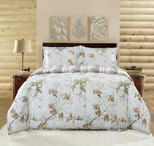 Realtree Xtra Colors Queen Comforter Set 7pc w/sheets Reversible Gray Plaid Camo