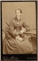 CDV photo Feine Dame - Augsburg 1886