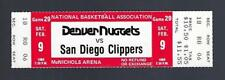 1979-80 NBA SAN DIEGO CLIPPERS @ NUGGETS FULL UNUSED BASKETBALL TICKET - FEB 9