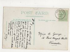 Miss B George Fort Royal Hill Worcester 1907 783a
