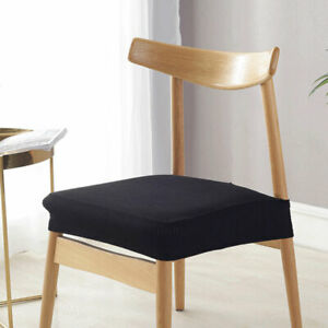6 Pcs Removable Luxury Thicken Stretch Slipcover Dining Cushion Chair Seat Cover