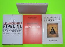 Lot of 4 Leadership books, GOOD to GREAT condition, College level reading