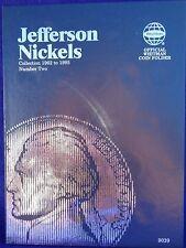 Whitman Jefferson Nickel #2 1962-1995 Coin Folder, Album Book #9039