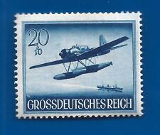 WW2 Nazi Third 3rd Reich Germany Navy FLOAT PLANE airplane stamp 1944 MNH