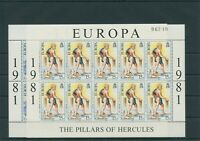 Gibralter 1981 Mi. 416-417 Sheetlet Mint MNH More See. Shop