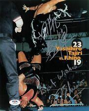 Tajiri Rhyno signed 8x10 photo PSA/DNA COA WWE Autographed Wrestling