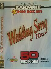 CHARTBUSTER KARAOKE CDG  WEDDING SONGS  (5026)  3 DISC BOX SET  50 TRACKS   NEW
