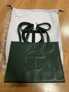 TELFAR Shopping Bag Medium Dark Olive - In Hand - Fast Shipping