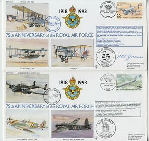 BRITISH INDIAN OCEAN TERRITORY 1993 75th ANNIVERSARY of the RAF official covers
