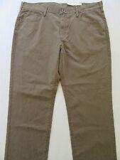 NWT Sonoma Men's Pants 40x32 Brown Khaki Straight-Fit Lower-Rise Chino Slacks
