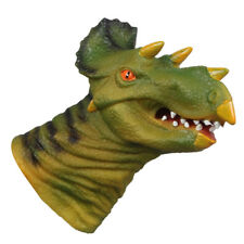Chomping Triceratops Dino Head Dinosaur Action Figure Hand Puppet Child Toy