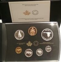 1967-2017 Canada Centennial 7-Coins Pure Silver Proof Set: Alex Colville Designs