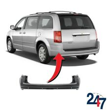 NEW CHRYSLER VOYAGER 2008 - 2015 REAR BUMPER COVER WITH PDC & MOULDING HOLES