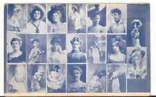 Undated Unused Postcard Multiple Pictures of Girls Women Actresses ?