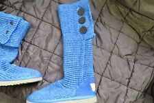 UGG CARDY BLUE KNITTED BOOTS SIZE 4.5 - SELLING FOR CHARITY